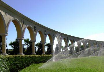 Irrigation over Turf